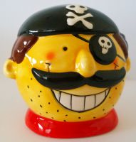 Cute Pirate Head Money Box - 3 Designs