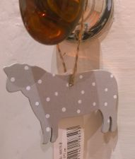 Grey Wooden Sheep Hanging Decoration