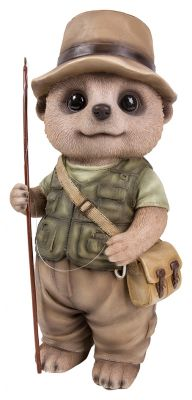 Fisherman Baby Meerkat Ornament Gift - Indoor or Outdoor - Fun