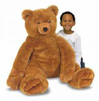 Lifelike Giant Teddy Bear Plush Soft Toy - Melissa & Doug