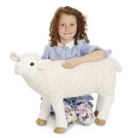 Lifelike Lifesize Farm Sheep Plush Soft Toy