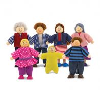 Melissa & Doug Wooden Doll Family Dollhouse - Set of 7