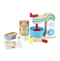 Melissa & Doug Wooden Cake Baking Mixer 11 Piece Pretend Play Set