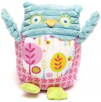 Owl Pink & Blue Olive Owl Baby Rattle