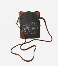 Bicycle Canvas & Leather Handbag - Carpe Diem