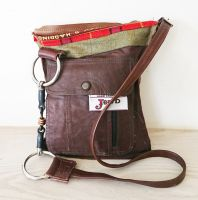 Tom Thumb Snaffle Bit Tweed, Tartan & Leather Handbag - Joey D