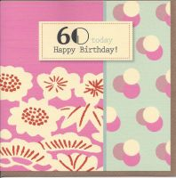 60th Birthday Card - Female - Pink Medley