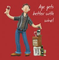 Birthday Card - Male Funny Humour Wine One Lump Or Two