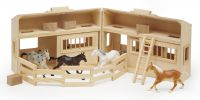 Melissa & Doug - Fold & Go Stable with Horses