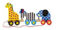 Melissa & Doug Zoo Animals Wooden Pull Along Toy