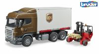 Scania R-Series UPS Truck with Forklift Bruder 03581 Scale 1:16