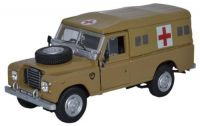 Land Rover Series III 109 Army Dessert Ambulance Diecast Model 1:43 Scale - Cararama