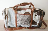 Amore Cowhide Cow Leather Weekend Holdall Bag