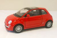 Fiat 500 Diecast Scale Model Car 1:38 - Red