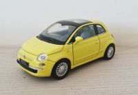 Fiat 500 Diecast Scale Model Car 1:38 - Yellow