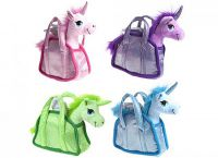 Unicorn Plush Toy Gigi Queen in Carry Bag - 4 Colours