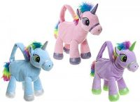 Unicorn Plush Toy Gigi Queen Handbag - 3 Colours