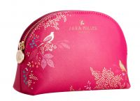 Sara Miller - Small Cosmetic Make Up Bag - Pink Birds