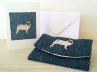 Pendragon the Pug Dog Handmade Tweed Coin Purse