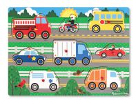 Melissa & Doug Vehicles Wooden Peg Puzzle