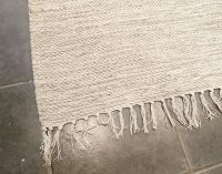 Large Cream Cloud Nine Handloomed Natural Recycled Yarn Rug - 180cm x 245cm