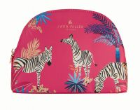 Sara Miller - Medium Cosmetic Make Up Wash Bag - Pink Zebra