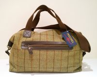 Tweedmill Weekender Bag - Tweed Overnight Bag Brown