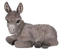 Donkey Baby - Grey Laying Lifelike Garden Ornament - Indoor or Outdoor - Real Life Farm