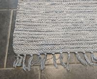 Large Grey Handloomed Natural Recycled Yarn Rug - 180cm x 245cm