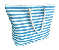 Beach Cooler Bag Extra Large - Blue & White Stripes