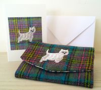 William the Westie Dog Handmade Tweed Coin Purse