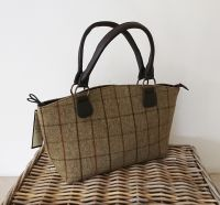 Tweedmill Tote Bag - Brown Tweed Handbag