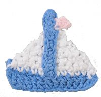 Set of 3 Sailing Boat Crochet Magnet Party Favour