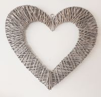 Extra Large Grey Washed Willow Heart - 60cm