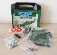 Spitfire Aeroplane Stainless Steel Model Construction Kit Set - 348 Pieces