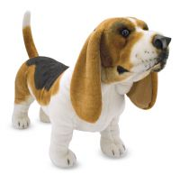 Lifelike Lifesize Basset Hound Dog Plush Soft Toy