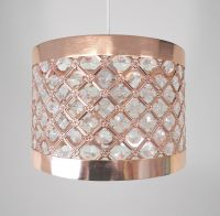 Lampshade - Rose Gold Copper Metal Moda