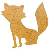 Set of 10 Wedding Favour - Wooden Fox Brooch
