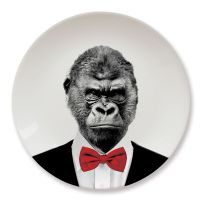 Wild Dining Party Animal Gorilla Plate
