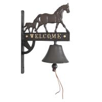 Wrought Iron Horse Welcome Door Bell