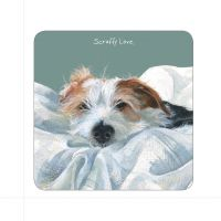 Scruffy Love Wire Hair Jack Russell Coaster - The Little Dog