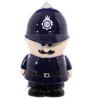 Policeman Figure Money Bank Box