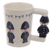 Policeman Figure & Motive Mug - Boxed
