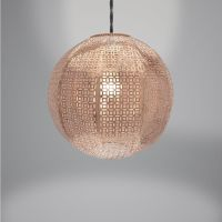 Lampshade - Rose Gold Copper Metal Round Nouveau Cadiz