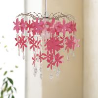 Lampshade - Pink Flower Chandelier