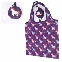 Unicorn Enchanted Rainbow Design Reusable Fold-able Shopping Bag