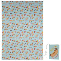Sausage Dog Fast Food Gift Wrapping Paper Sheet & Tag