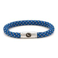 Bluestone Blue Grey Rope Bracelet Steel Clasp - Boing