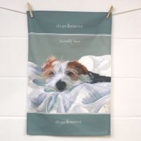 Scruffy Love Wire Hair Jack Russell Tea Towel - The Little Dog