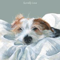 Scruffy Love Wire Hair Jack Russell Card - The Little Dog